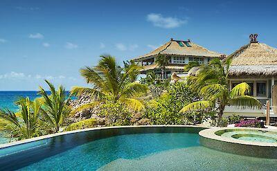 Beach Villa Pool And View