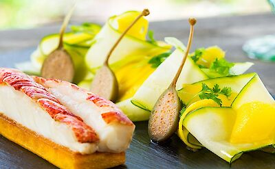Lobster With Courgette And Mango Salad