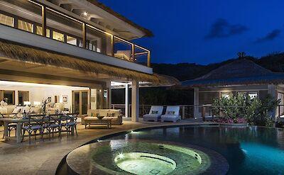 Beach Villa Evening
