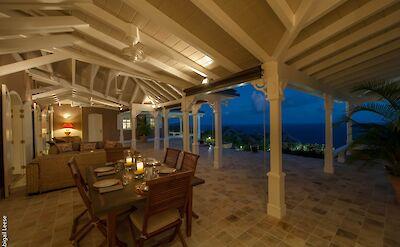 Eden Rock Villa Rental Outside By Night