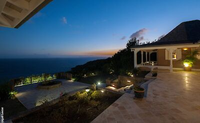 Eden Rock Villa Rental Outside Area By Night