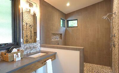 Sunset Falls Master Bath Shower