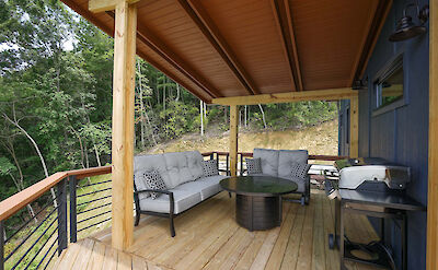 Sunset Falls Side Covered Porch