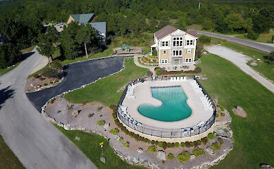 Branson Canyon Pool And Clubhouse Aerial