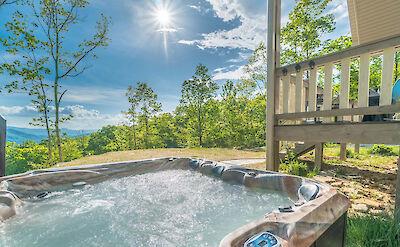 Almond Tree Hot Tub View