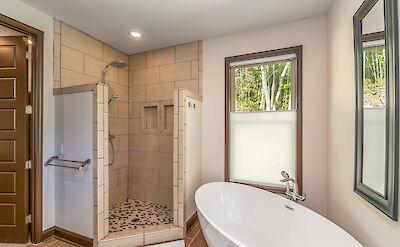 Almond Tree Master Bath Tub And Shower