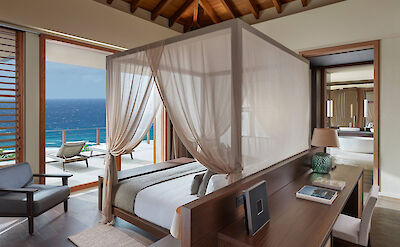 Canouan Accommodation Patio Villa Master Bedroom