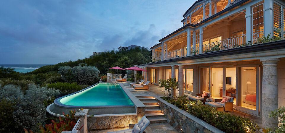 Canouan Accommodation Lagoon Villa Exterior