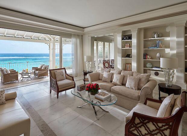 Canouan Accommodation Lagoon Villa Living Room