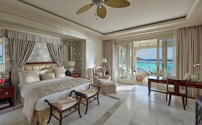 Canouan Accommodation Lagoon Villa Bedroom
