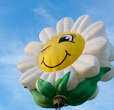 The annual Balloon Festival in Barneveld, Gelderland, Holland. Photo by Bert Glismeijer