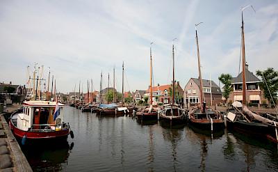Harbor in Spakenburg in Bunschoten, the Netherlands. Flickr:bert knottenbeld