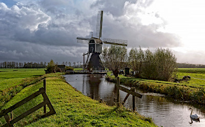 Windmills in the countryside in the Netherlands. © Hollandfotograaf