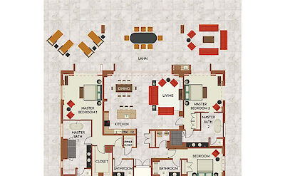 Floor Plan 3 Bdrm Kamehameha