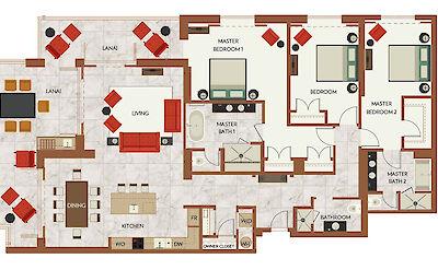 Floor Plan 3 Bdrm Alii