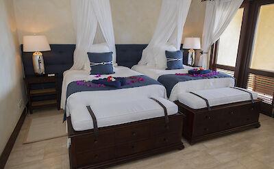 Little Blue Ocean Two Bedded Bedroom