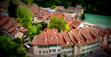 The Old City part of Bern along the Aare River is a UNESCO World Heritage Site. Photo via Wikimedia Commons:Cristo Vlahos