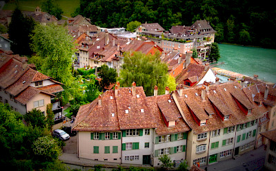 The Old City part of Bern along the Aare River is a UNESCO World Heritage Site. CC:Cristo Vlahos