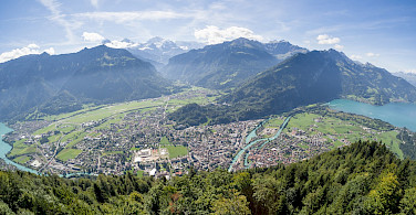 View from Harder Kulm in Interlaken, Switzerland. Photo via Flickr:James Petts