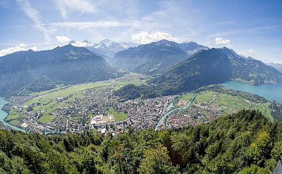 View from Harder Kulm in Interlaken, Switzerland. Flickr:James Petts