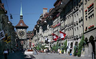 Bike rest on Kramgasse in Bern, Switzerland. CC:Daniel Schwen
