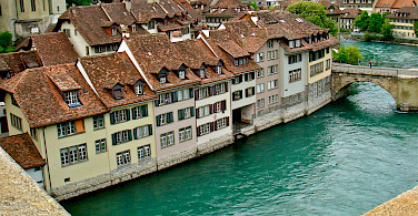 Old part of Bern on the Aare River, Switzerland. Flickr:Patrick Nouhailler