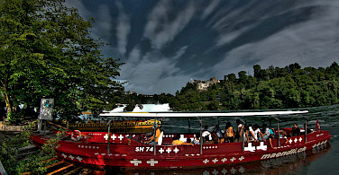 Taking a boat to Rheinfall in Schaffhausen, Switzerland. Photo via Flickr:Stephanie Kroos