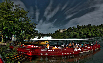Taking a boat to Rheinfall in Schaffhausen, Switzerland. Flickr:Stephanie Kroos