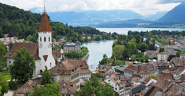 Another great view from the castle in Thun, Switzerland. Flickr:othree