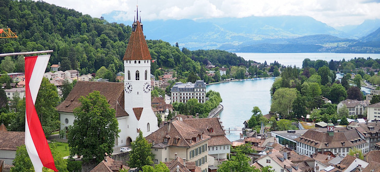 Thun with view from the Castle, Switzerland. Flickr:othree