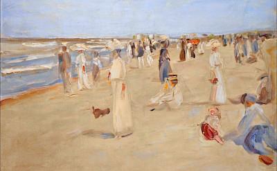 Max Liebermann 1911 painting of Noordwijk: La plage à Noordwijk. Flickr:Jean-Pierre Dalbera