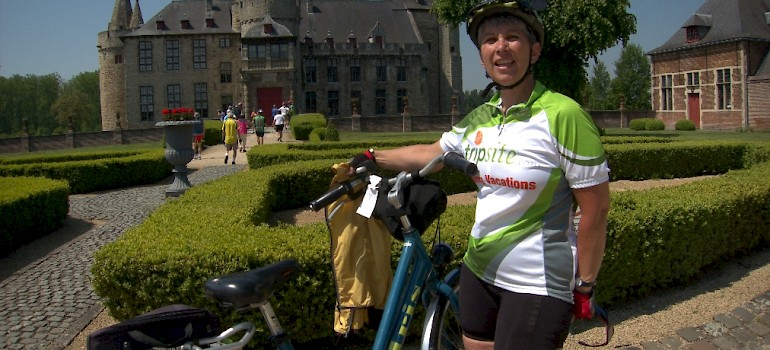 Linda Guthrie cycling the route!