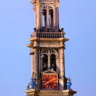 <i>Westertoren</i> (1637) is the highest church tower (85m) in Amsterdam. Photo via Wikimedia Commons:Massimo Catarinella