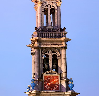 The 'Westertoren' (1637) is the highest church tower (85m) in Amsterdam. Photo via Wikimedia Commons:Massimo Catarinella
