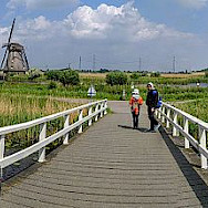 The famous windmills of Kinderdijk.