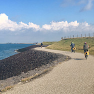 Biking the North Sea in the Amsterdam to Bruges Bike Tour. Photo by Regina Losinger