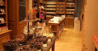 Chocolate shops abound in Brussels. Photo via Flickr:Christian Payer