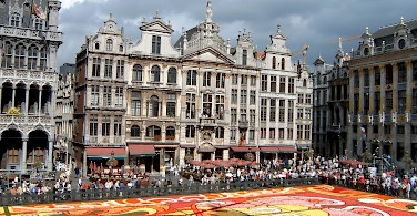 Grand Place in Brussels. Photo via Wikimedia Commons:Leguy