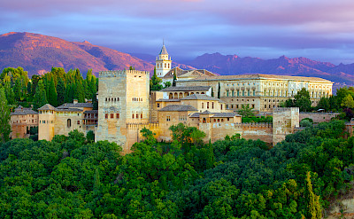 Alhambra Palace is a fortress complex in Granada, Andalusia, Spain. Flickr:Jiuguang Wang
