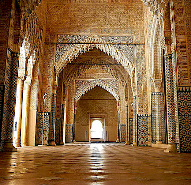 Alhambra Palace is a sight to see in Granada, Spain. Photo via Flickr:Ronny Siegel