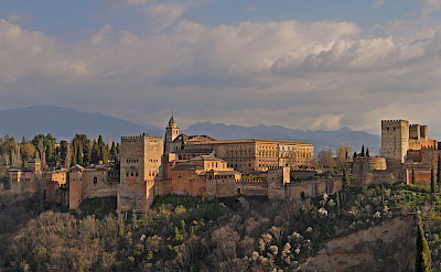 View of Alhambra in Granada, Andalusia, Spain. Flickr:Harshil Shah