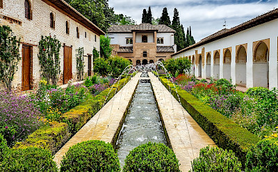 Generalife Fountains in Granda, Spain. CC:Ajaysuresh