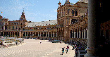 Plaza de Espana, Seville, Spain. Great architecture on this bike tour! Photo via Flickr:tastybit