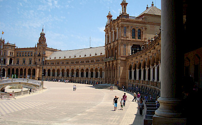 Plaza de Espana, Seville, Spain. Great architecture on this bike tour! Flickr:tastybit