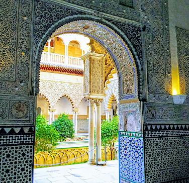 Mosaic works in Seville, Spain. Flickr:r chelseth