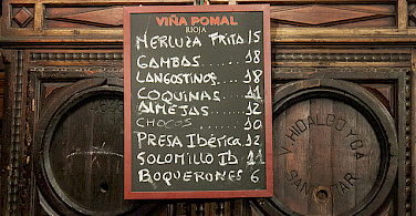 Tapas and wine all over Andalucia. Photo via Flickr:Oliver Townend