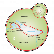 Around Lake Constance Map