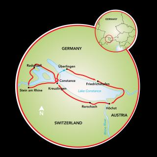 Alrededor del lago de Constanza Map