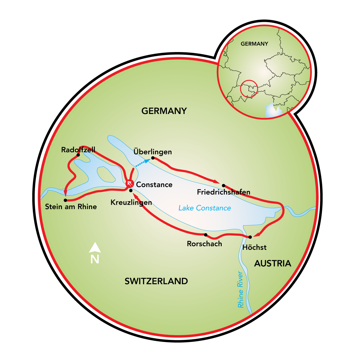 Around Lake Constance Bike Tour Austria Germany Switzerland