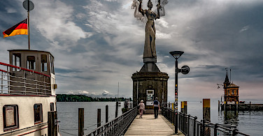 Statue at harbor entrance in Konstanz, Lake Constance, Germany. Photo via Flickr:Bernd Thaller